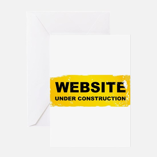 Website Under Construction Greeting Cards