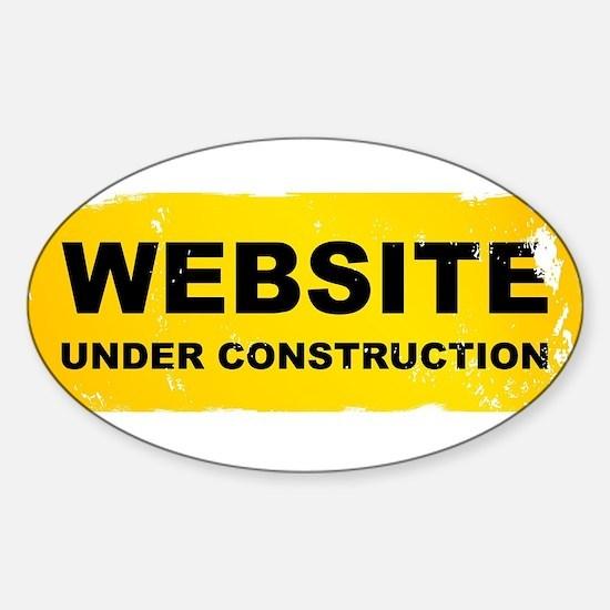 Website Under Construction Decal