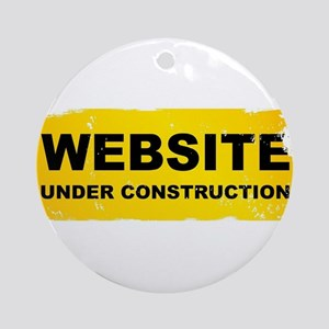 Website Under Construction Round Ornament