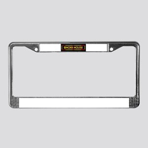 Whore House Sign License Plate Frame