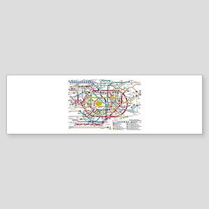 SUBWAY - METRO MAPS - TOKYO JAPAN! Bumper Sticker