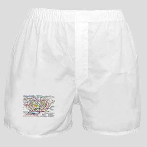 SUBWAY - METRO MAPS - TOKYO JAPAN! Boxer Shorts