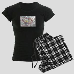 SUBWAY - METRO MAPS - TOKYO Women's Dark Pajamas