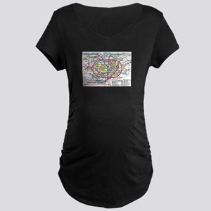 SUBWAY - METRO MAPS - TOKYO JAPA Maternity T-Shirt
