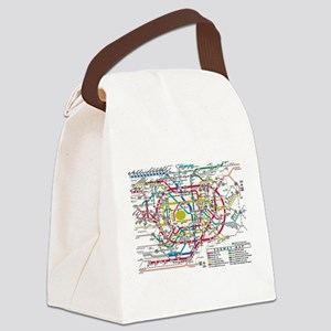 SUBWAY - METRO MAPS - TOKYO JAPAN Canvas Lunch Bag
