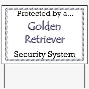 Golden Security  Yard Sign