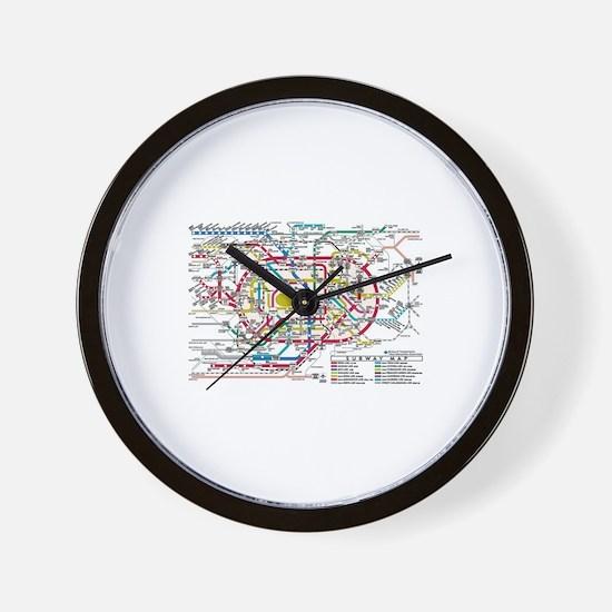 SUBWAY - METRO MAPS - TOKYO JAPAN! Wall Clock