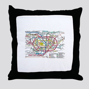 SUBWAY - METRO MAPS - TOKYO JAPAN! Throw Pillow