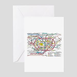 SUBWAY - METRO MAPS - TOKYO JAPAN! Greeting Cards