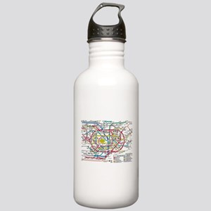 SUBWAY - METRO MAPS - Stainless Water Bottle 1.0L