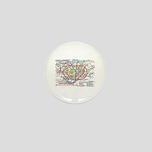SUBWAY - METRO MAPS - TOKYO JAPAN! Mini Button