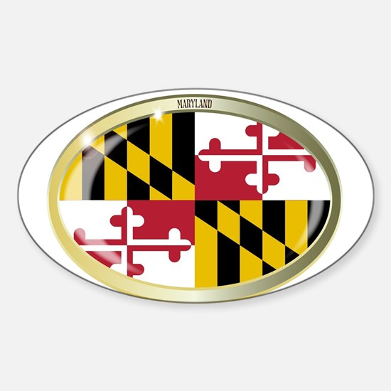 Maryland State Flag Oval Button Decal