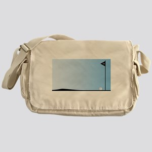 Eighteenth Hole Flag Messenger Bag
