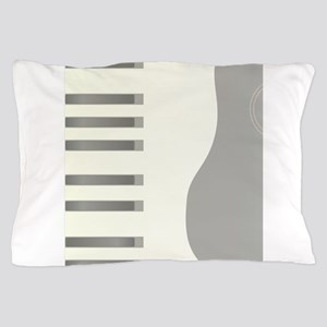 Piano Keys And Guitar Background Pillow Case
