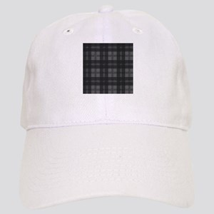 Grey Check Tartan Wool Material Cap