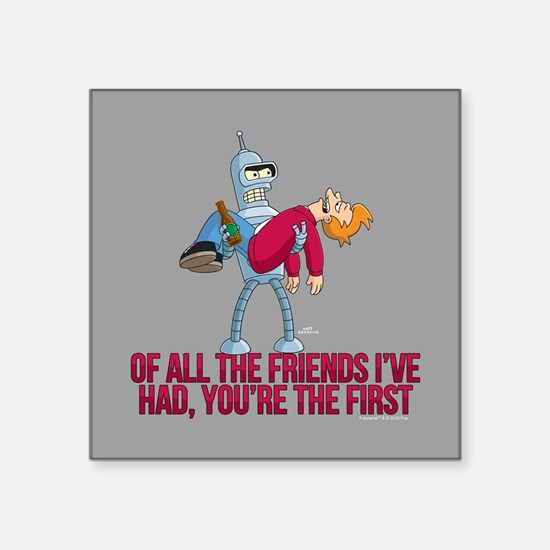 "Futurama All the Friends Square Sticker 3"" x 3"""
