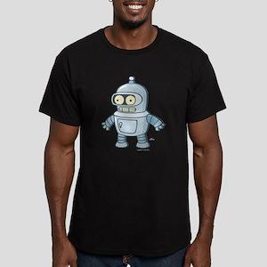 Futurama All the Frien Men's Fitted T-Shirt (dark)