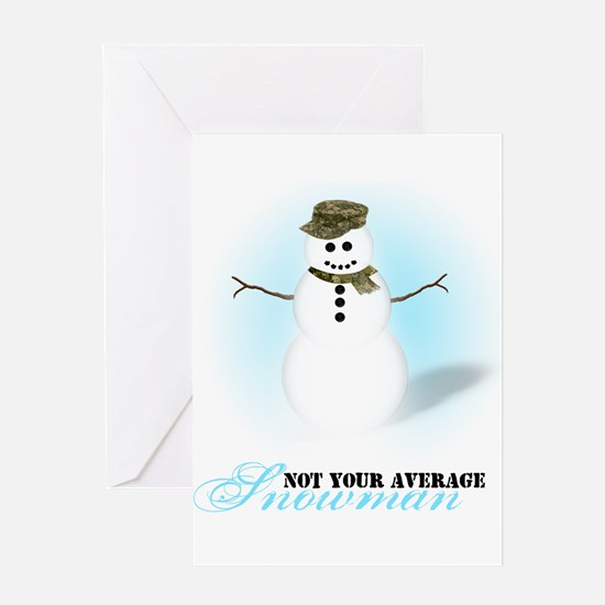 Camoflauge Snowman Greeting Card