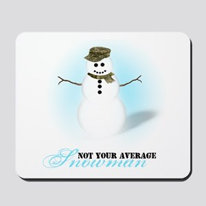 Camoflauge Snowman Mousepad