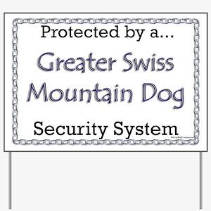 Swissy Security Yard Sign