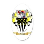 Younge Oval Car Magnet