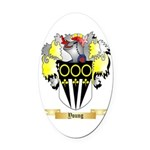 Young Oval Car Magnet