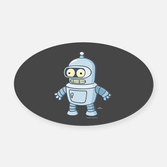 Futurama Baby Bender Full Bleed Oval Car Magnet