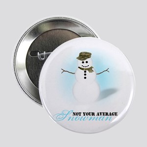 "Camoflauge Snowman 2.25"" Button"