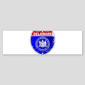 Delaware Interstate Sign Bumper Sticker