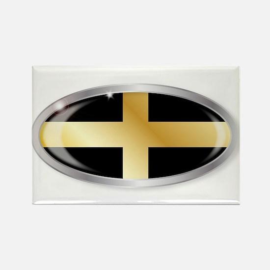 Welsh Saint Davids Flag Oval Button Magnets