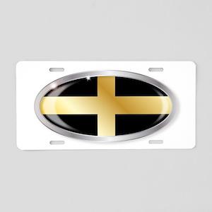 Welsh Saint Davids Flag Ova Aluminum License Plate