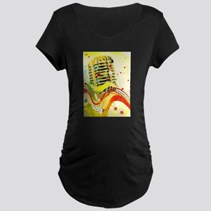 Jazz Microphone Poster Maternity T-Shirt
