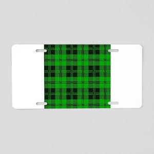 Green Tartan Wool Material Aluminum License Plate