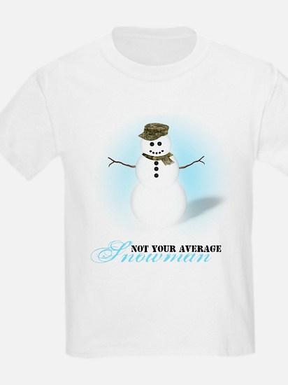 Camoflauge Snowman T-Shirt