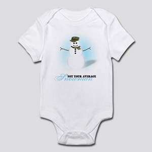 Camoflauge Snowman Infant Bodysuit
