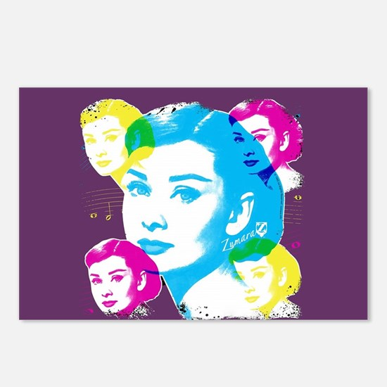 Audrey Hepburn Color Coll Postcards (Package of 8)