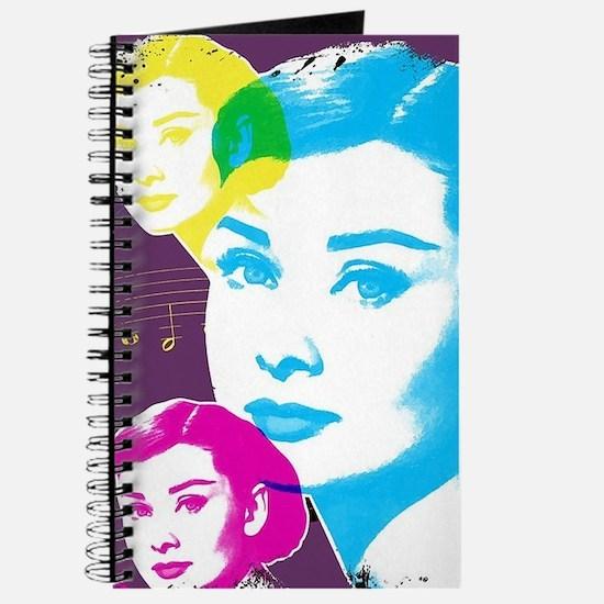 Audrey Hepburn Color Collage Journal