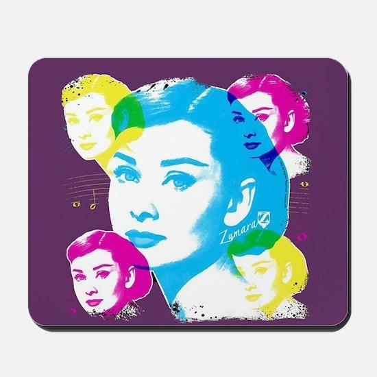 Audrey Hepburn Color Collage Mousepad