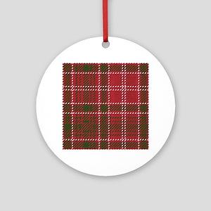 Red Kilt Tartan Round Ornament