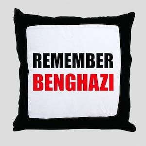 Remember Benghazi Throw Pillow
