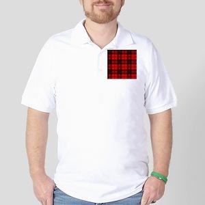 Tartan Wool Material Golf Shirt