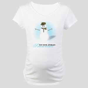 Camoflauge Snowman Maternity T-Shirt