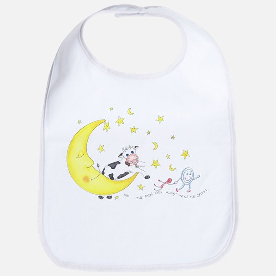 Cow Jumped over the Moon Bib