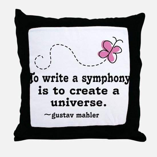 Mahler Symphony Throw Pillow