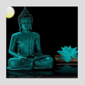 Buddha Meditation Style Tile Coaster