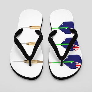 Australian Darts Flag Set Flip Flops