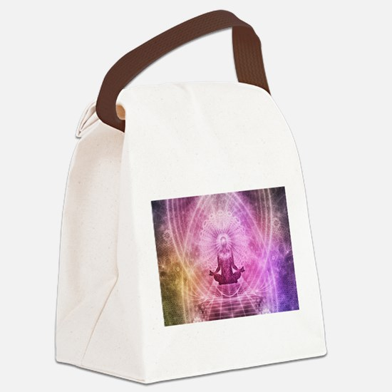 Yoga Meditation Canvas Lunch Bag