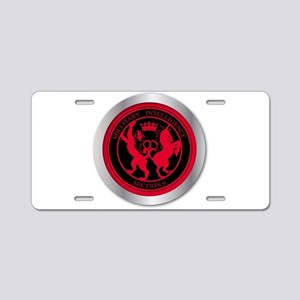 Mi6 Badge Button Aluminum License Plate