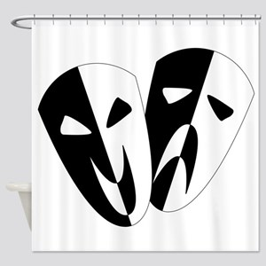 Black and White Stage Masks Shower Curtain