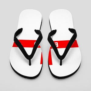 Flag of England Flip Flops
